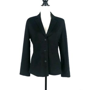 Eileen Fisher ponte knit button blazer jacket